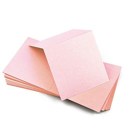 Metallic Rose Quartz Square Place Cards, Stardream, 105lb, 25 Pack