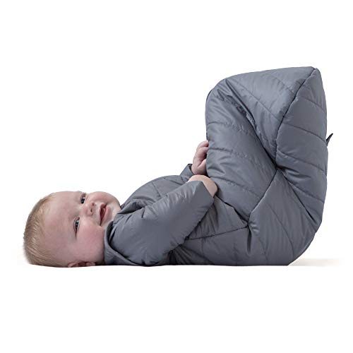 baby deedee Sleep Nest Travel Quilted Baby Sleeping Bag Sack with Sleeves, Gray Skies, Large (18-36 Months)