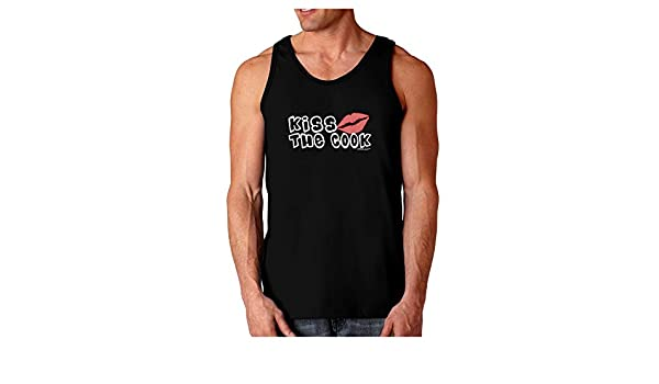 TooLoud Kiss The Cook with Lips Dark Muscle Shirt
