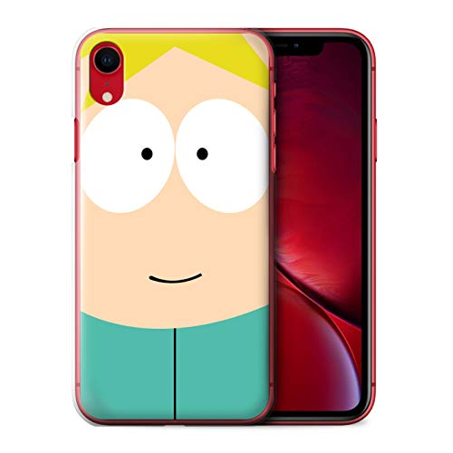 Phone Case for Apple iPhone XR Funny South Park Inspired Butters Design Transparent Clear Ultra Slim Thin Hard Back Cover
