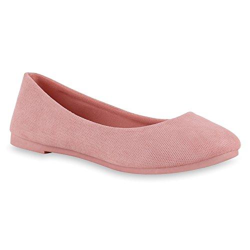 Ballerinas Ballerina Damenschuhe Halbschuhe Schuhe mit Blumenmotiv