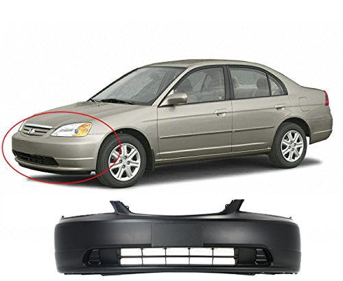 MBI AUTO Primered, Front Bumper Cover 2001 2002 2003 Honda Civic, - Bumper Cover Front Hybrid