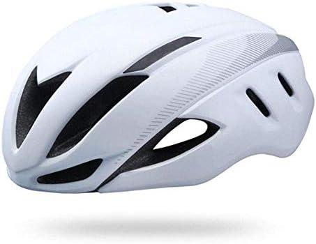 Ying-CC ヘルメット ヘルメット自転車サイクリングトライアスロンサイクリングヘルメットロードバイクヘルメットタイムトライアル自転車ヘルメット大人のエアロヘルメットホワイト55Cmx61Cm 自転車