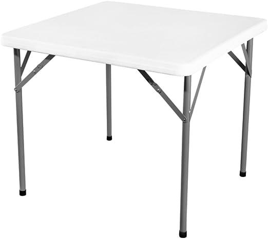 mesa plegable ZZHF Mesa Cuadrada/Mesa de Comedor al Aire Libre ...