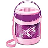 Milton Lunch Box for Office Econa Delux 3 Container Hot (Purple)