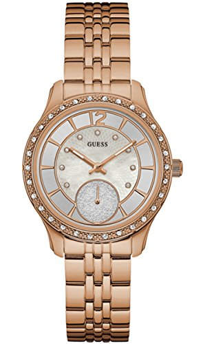 Guess Watches Ladies Whitney Womens Analog Japanese Quartz Watch with Stainless Steel Gold Plated Bracelet W0931L3