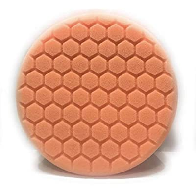 Xtreme Auto Supplies HeXtreme Medium Cut Foam Pad, Orange (6 Inch): Automotive