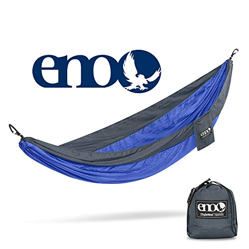 ENO - Eagles Nest Outfitters SingleNest Hammock, Portable Hammock for One, Royal/Charcoal
