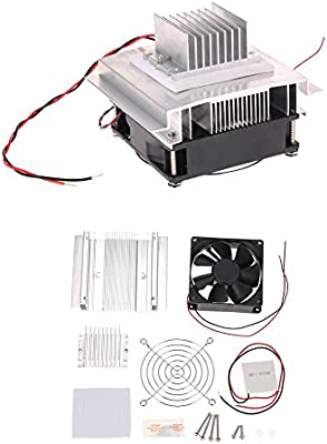 Thermoelectric Cooler Peltier,DC12V Electronic Semiconductor Refrigeration DIY Cooler Cooling System Kit Semiconductor Cooling System DIY Cooling System