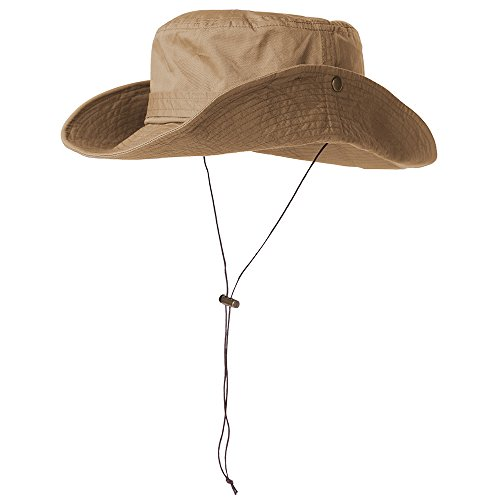 Siggi 100% Cotton Outdoor UPF 50+ Foldable Boonie Cap for Men Womens Bucket Sun Hats (Crushable Bucket)