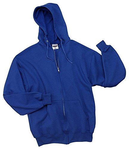 (Jerzees 8 oz., 50/50 NuBlend Fleece Full-Zip Hood (993)- ROYAL,2XL)