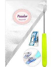 Pazalor 100 stycken professionella spritpåsar, sprutpåsar, plastplastplastplastplastplastplastplastpåsar, lämplig present 2 klämmor och 1 Scriber nål (100 stycken)