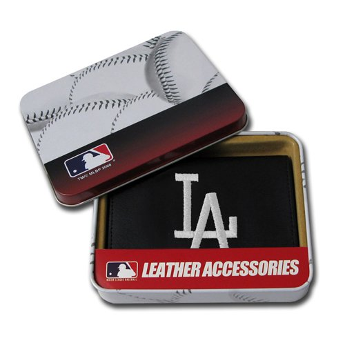 MLB Los Angeles Dodgers Embroidered Genuine Cowhide Leather Trifold (Los Angeles Dodgers Leather)