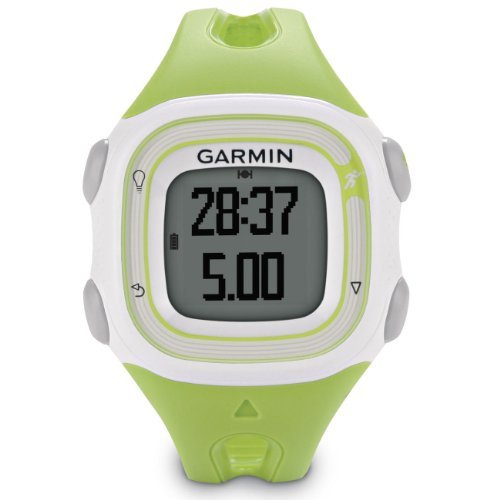 new-garmin-forerunner-10-gps-sport-running-watch-with-virtual-pacer-white-green-non-retail-package