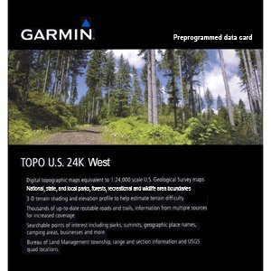 Garmin Topo USA 24K - West - Mapas para GPS, cobertura geográfica Oeste de Estados Unidos