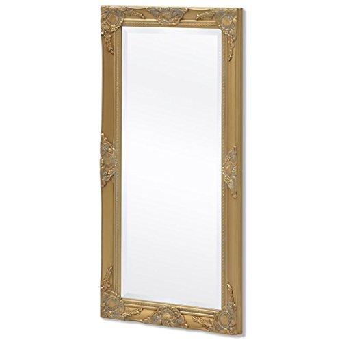 BLXCOMUS Wall Mirror Baroque Style 39.4''x19.7'' Gold mirror With four mounting hooks by BLXCOMUS (Image #7)