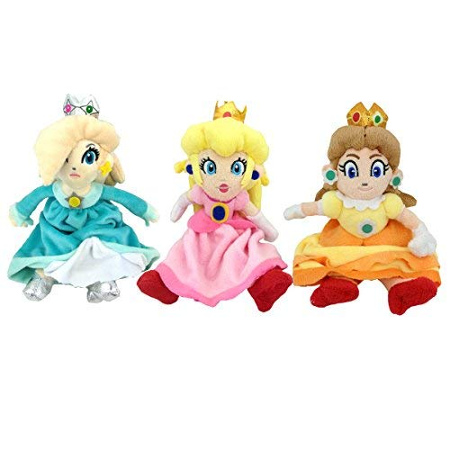 (Super Mario Bros Princess Rosalina Daisy Peach Plush Toy Princess Toadstool 9
