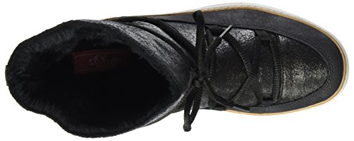 s.Oliver Damen 26472 Stiefel Schwarz (Black)