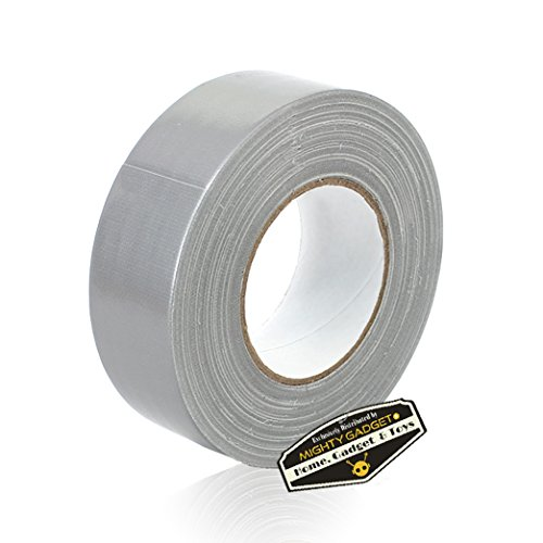 (12 Rolls of Mighty Gadget (R) All- Purpose Utility Grade Duct Tape 1.88 inch x 60 Yards (Silver Gray)