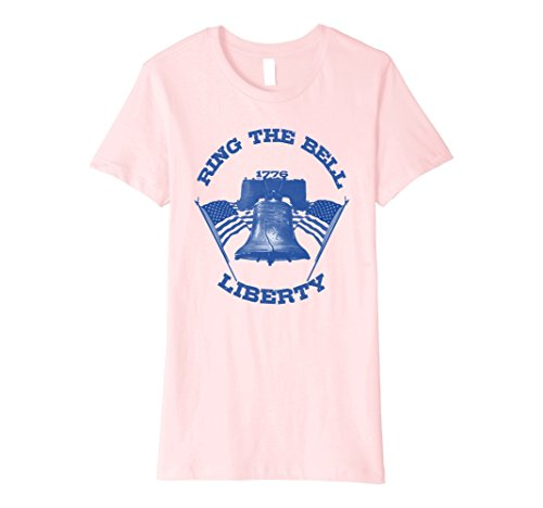 Womens Liberty Bell Pennsylvania Philadelphia Philly 1776 T Shirt Small Pink