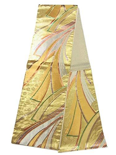 フレキシブル命令的胚リサイクル 袋帯  熨斗目模様  正絹 六通柄