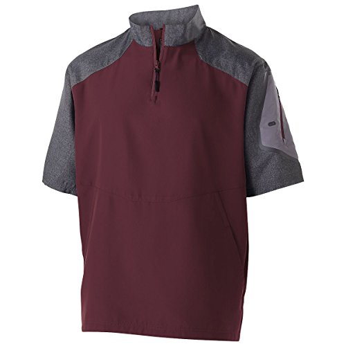 Men's Raider Pullover S/S Holloway Sportswear 3XL Carbon Print/Maroon