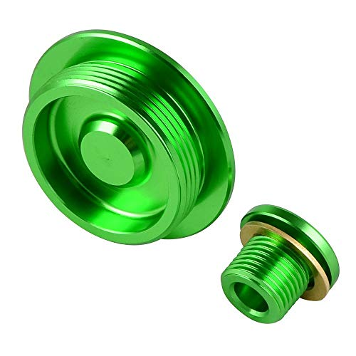 Engine Timing Cap Plugs Crankcase Cover for Suzuki DRZ400R DRZ400S DRZ400SM DRZ 400R 400S 400SM Kawasaki KFX400 KFX 400 Green ()
