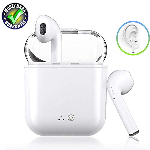 Wireless Earbuds Bluetooth Headphones Mini with Built-in Mic Noise Cancelling Headsets Sweatproof Stereo Earphone and Charging Case,Compatible with iPhone Airpods Android