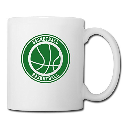Ceramic Nba Basketball - Basketball Logo Ceramic Coffee Mug, White,14 Ounces