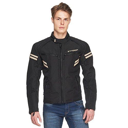 Mens Eagle Waterproof MC Touring/Urban Motorcycle Textile Black Jacket