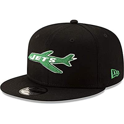 New Era New York Jets Hat NFL Black Team Color Historic Logo 9FIFTY Snapback Adjustable Cap Adult One Size