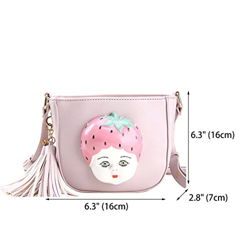 Handle Bags Cross Shoulder Bags Women's Handbags Leather Faux Top Purple Bags Body zUWqER