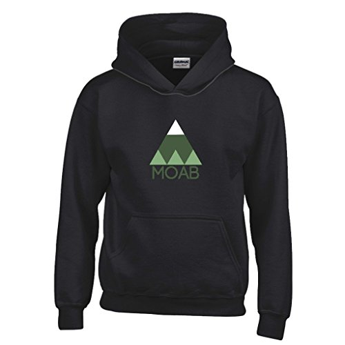 Moab Minimal Mountain Youth Hoodie - Utah Kid's Sweatshirt (M, -