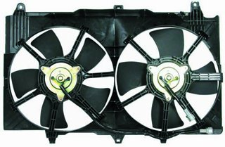 QP IG985-b Infiniti G35 G-35 Coupe Replacement AC A/C Condenser Radiator Cooling Fan/Shroud Assembly