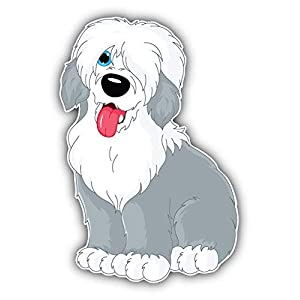 Magnet Old English Sheepdog Window Truck Car Vinyl Flexible Magnet Magnetic Bumper Sticker 3'' x 5'' 1