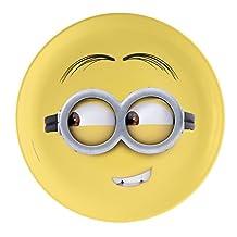"Zak! Designs Dinner Plate with Despicable Me 2 Minions Graphics, Reusable, Break-resistant , BPA-free Melamine, 10"""