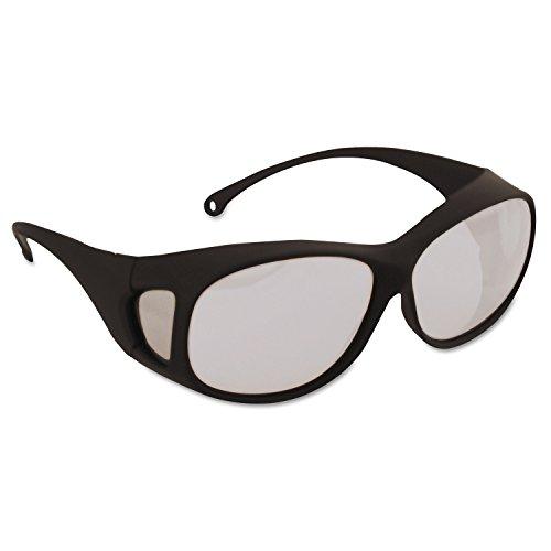 Jackson Safety 20746 V50 OTG Safety Eyewear, Polycarb Anti-Scratch Anti-Fog Lenses, Black Nylon Frame