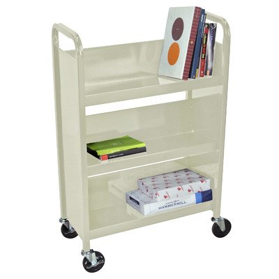 Truck Luxor Book (LUXOR BT3S27-P Book Truck with 3 Shelves, Putty)