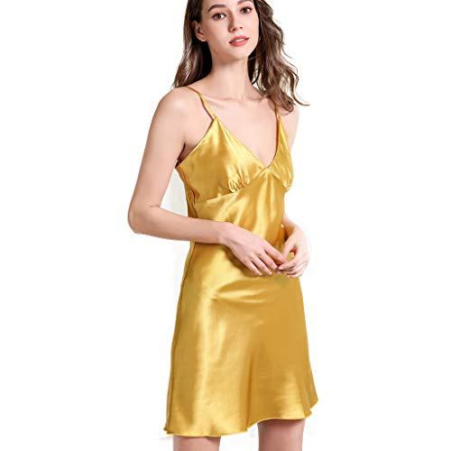 Womens Cami Nightdress  Sexy Lace Sling Sleepwear Lightweight Smooth Comfort Nightwear Loungewear Lingerie