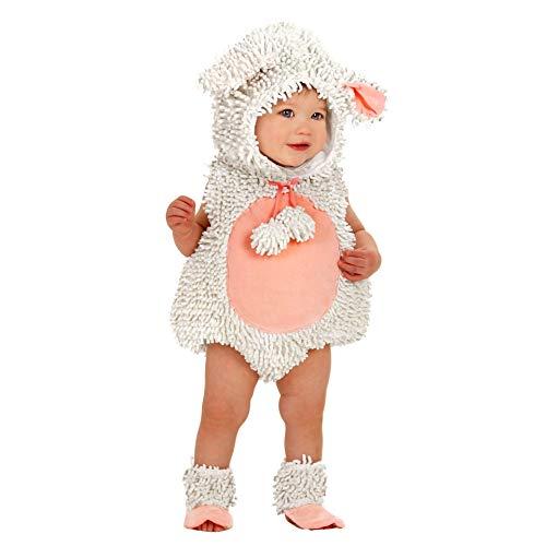 Princess Paradise Baby Girls' Premium Laura The Lamb, White/Pink, 6-12 Months -