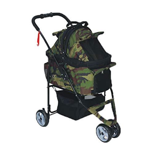 - Jzmaio A32 Pet Stroller Dog/cat Trolley Rainproof Detachable Multi-Purpose Folding Cart Out Light Animal Sports Car. Dog cart (Color : Army Green)