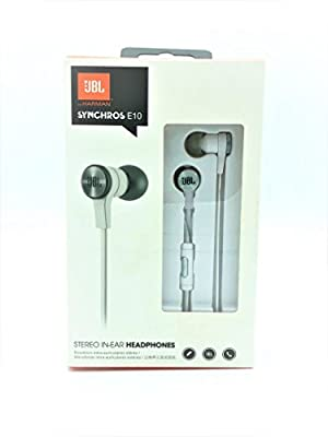 JBL E10 Blue In-Ear Headphones with JBL-Quality Sound and Advanced Styling, Blue