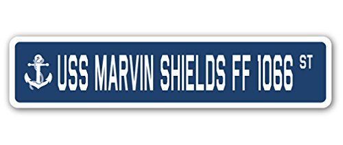 USS Marvin Shields Ff 1066 Street [3 Pack] of Vinyl Decal Stickers | 1.5