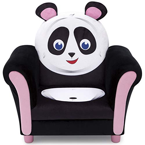 Delta Children Cozy Children's Chair - Fun Animal Character, Black & White Panda (Marshmallow Fun Furniture Flip Open Sofa Spiderman)