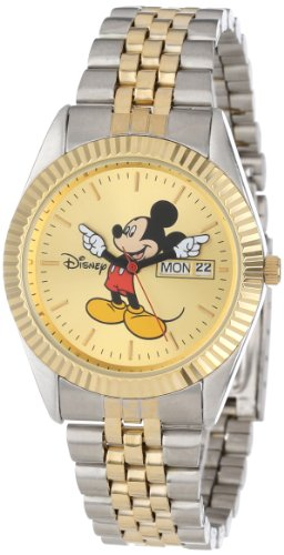 Disney Men's MM0060 Two-Tone Mickey Mouse Watch with Day and Date (Disney Mickey Mouse Watch)