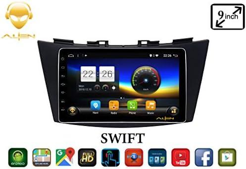 ALIEN 9 inch 4K Display Maruti Suzuki Swift/Dzire/Ertiga Full Touch Car  Android Music System with Offline Online Maps/Bluetooth/Car Mirror