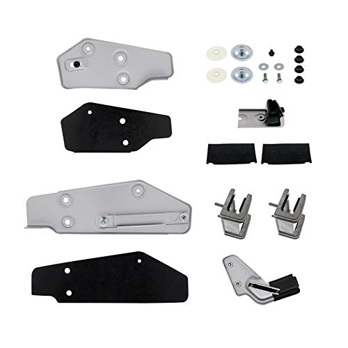United Pacific Door Glass Mounting Bracket & Guide Kit - 1969-70 Ford Mustang - Left Hand/Driver Side