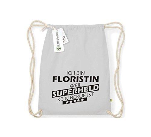 Shirtstown Orgánico Saco de gimnasia Estoy Floreria, weil Superheld sin Trabajo ist gris claro