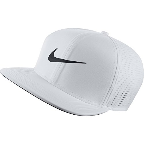 NIKE Unisex AeroBill Adjustable Cap, White/Anthracite/Black, One - Dri Tennis Nike Fit Hat