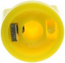 KAISH 10pcs Guitar AMP Effect Pedal Knobs Pointer Knob with Set Screw Yellow